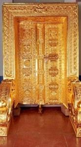 Gold-plated door