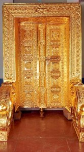 Gold-plated door