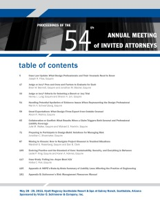 Proceedings of the 54th Annual Meeting of Invited Attorneys