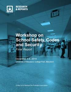 Workshop on School Safety, Codes and Security Final Report