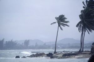 Storm at coastline in Puerto Rico