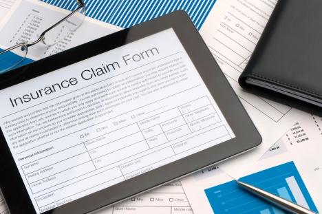 Online insurance claim form
