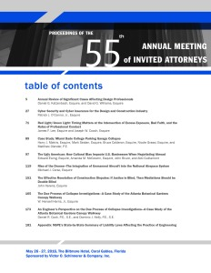 Proceedings of the 55th Annual Meeting of Invited Attorneys